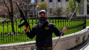 Featured - Masked, Armed Trump Supporter