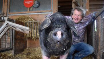 Ole with his owner, Karl Schweisfurth. (Jackie Guigui-Solberg/Zenger)