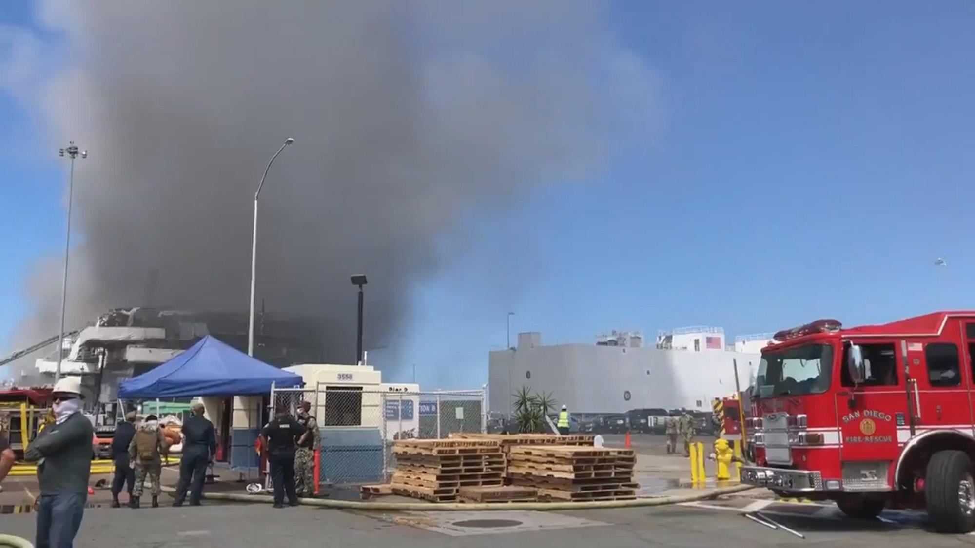 San Diego explosion injures 34 US sailors
