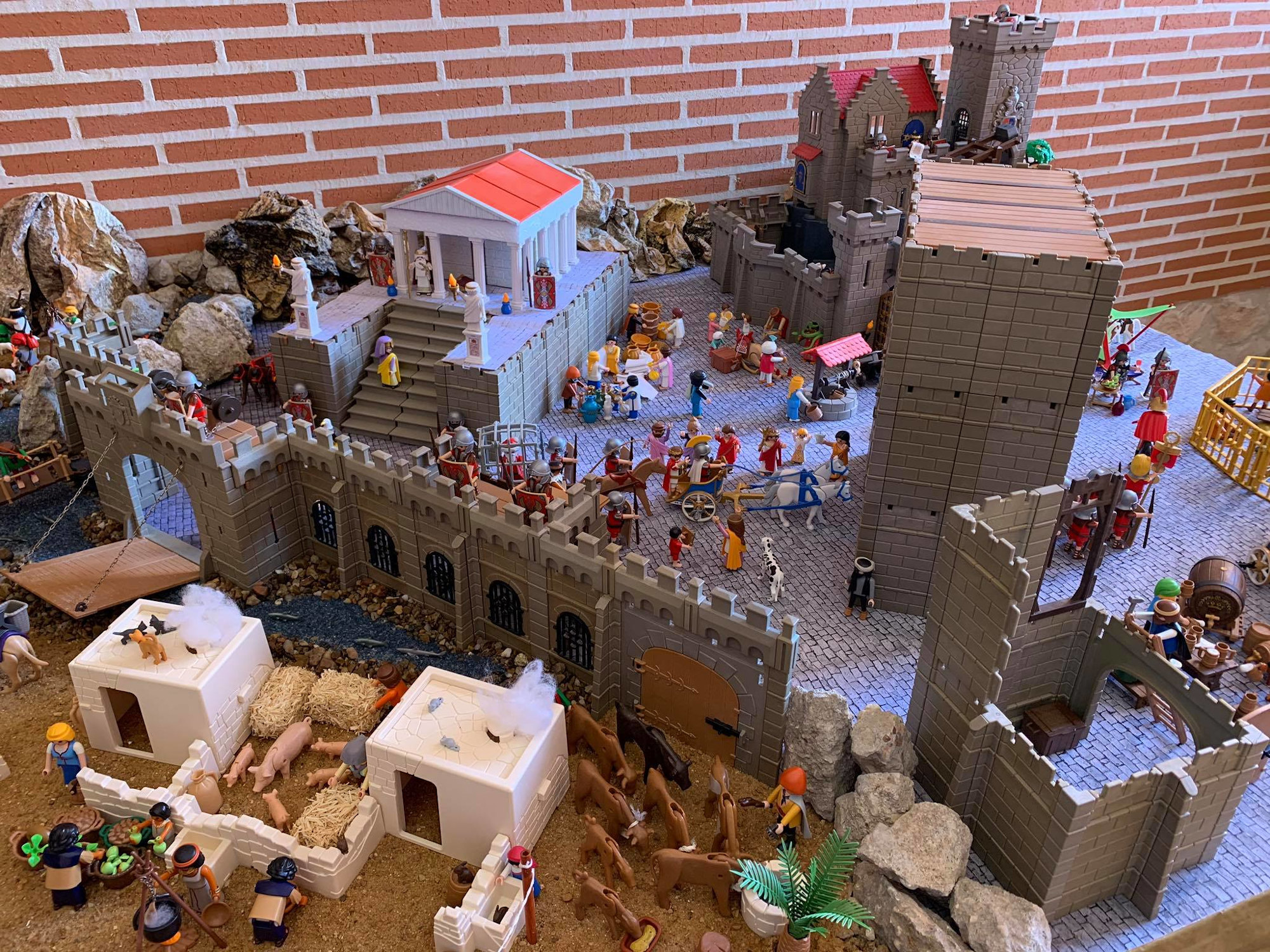 Spanish architect recreates the 'Running of the Bulls' with Playmobil