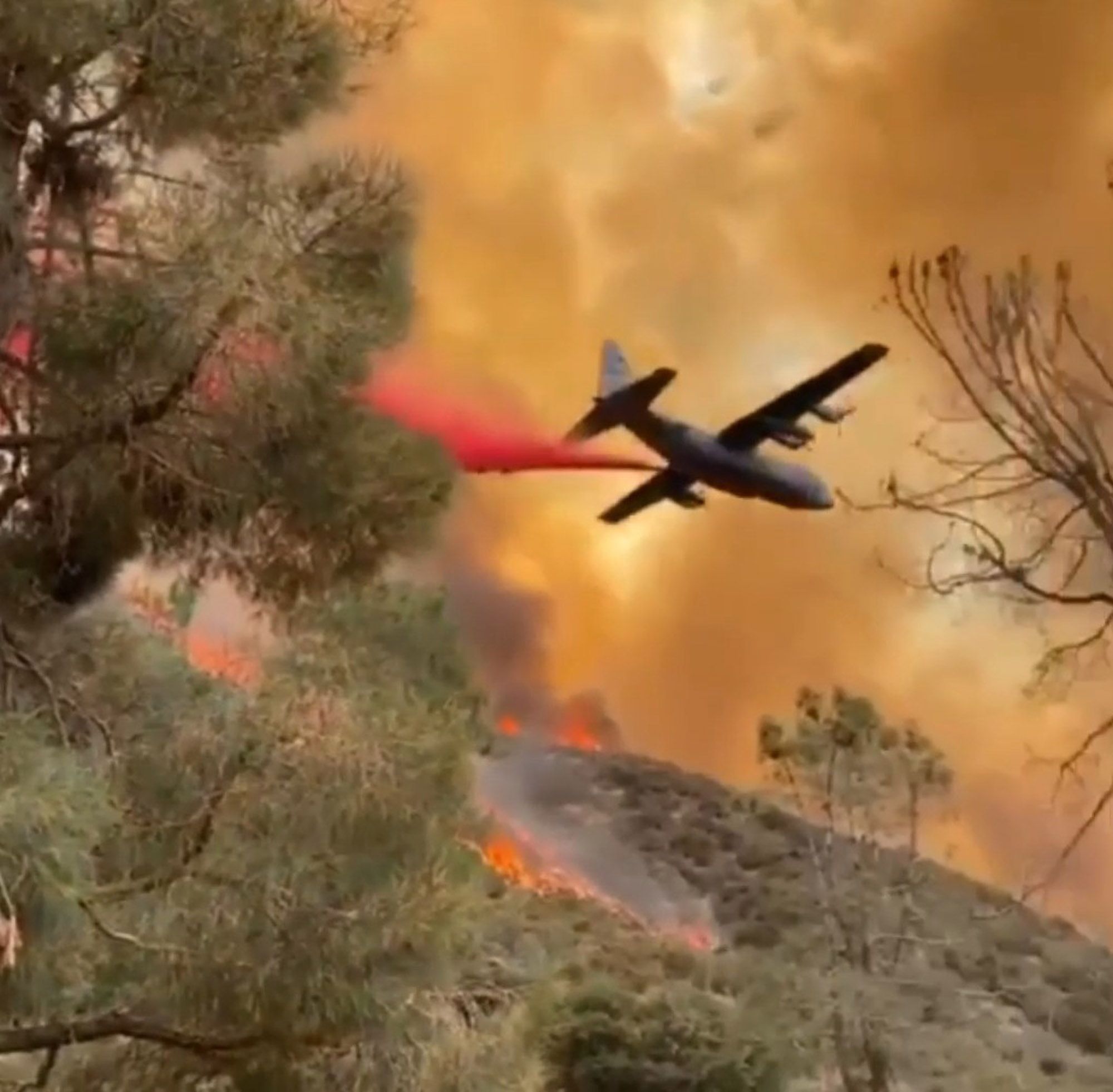 VIDEO: Firefighting Plane Dumps