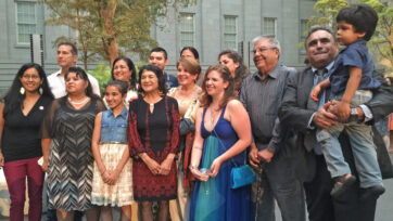 Dolores Huerta and her family on July 1, 2015. (Aileen Roberta Schlef/Zenger)