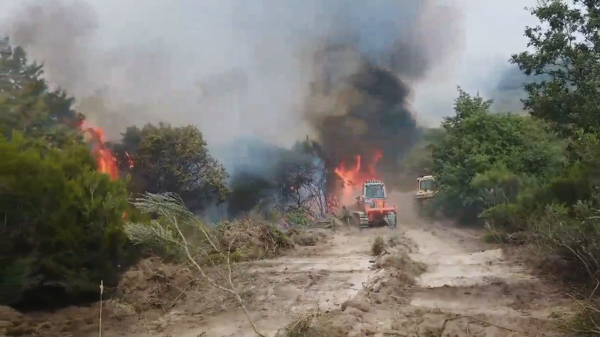VIDEO: Wildfires Plague Northern Spain