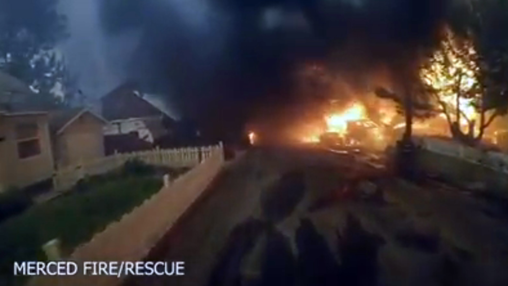 VIDEO: California Firefighters Claim Victory in Stopping Fast-Growing Wildfire