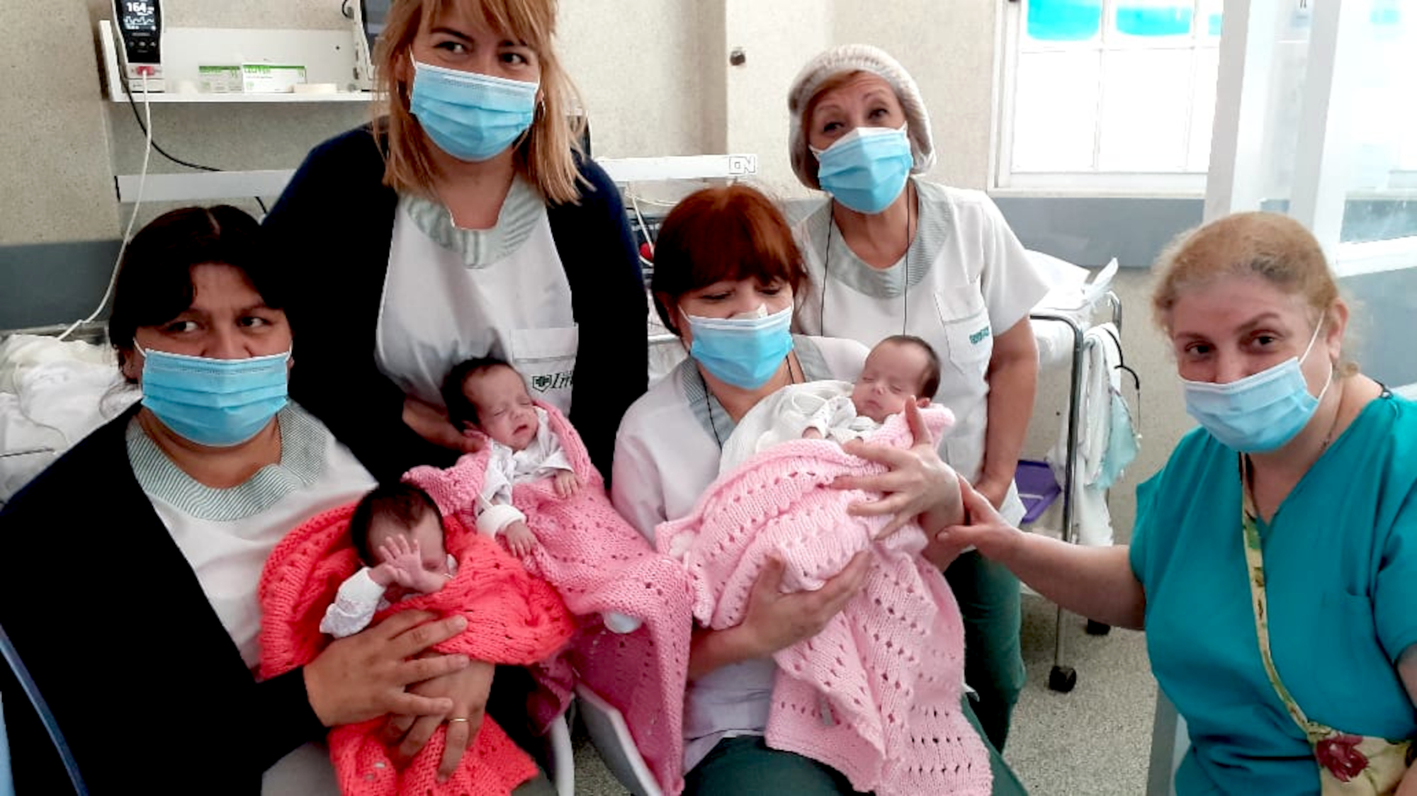 Girl Power: Rare Identical Triplets Born in Argentina Are Back Home