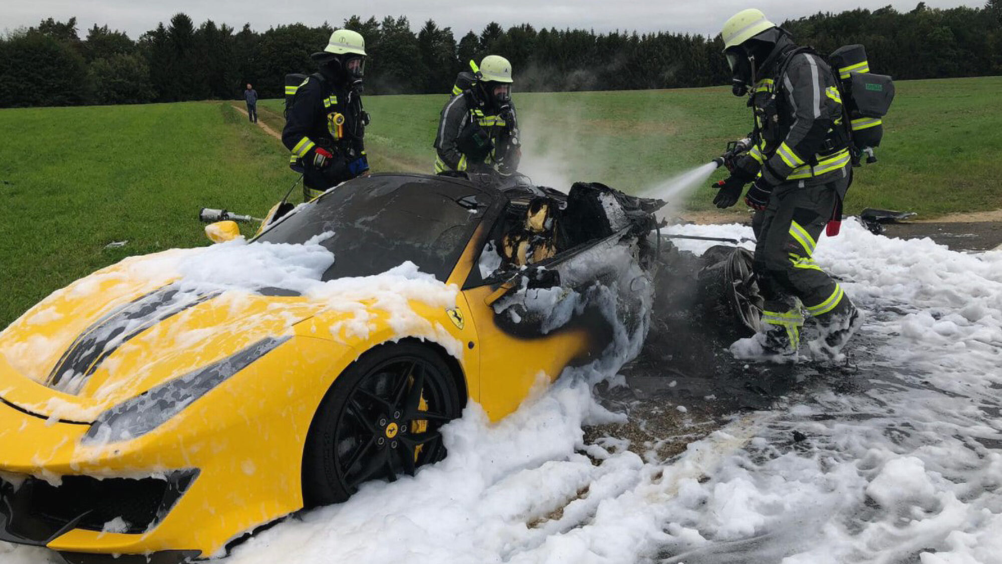 VIDEO: $400K Ferrari Catches on Fire