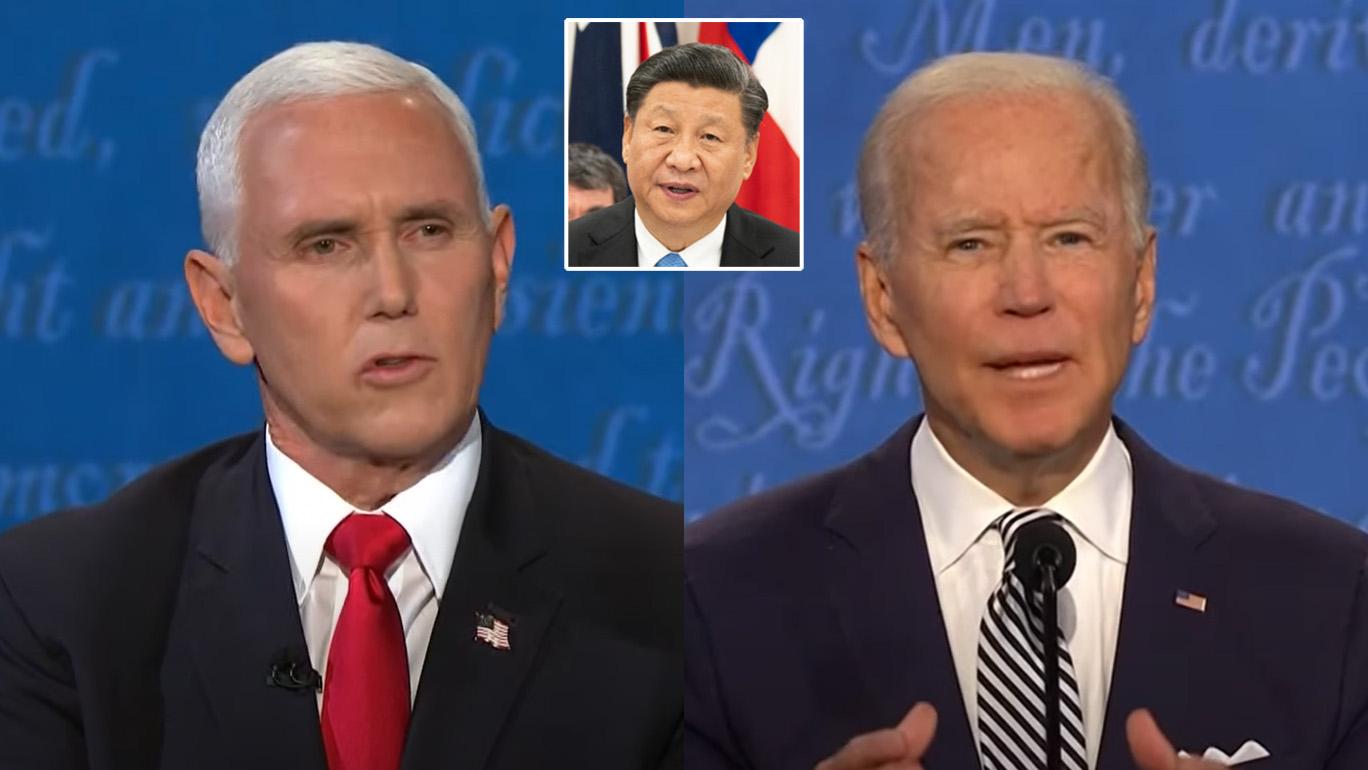 Mike Pence calls Joe Biden 'cheerleader for Communist China' as Covid-19 blame leads VP debate