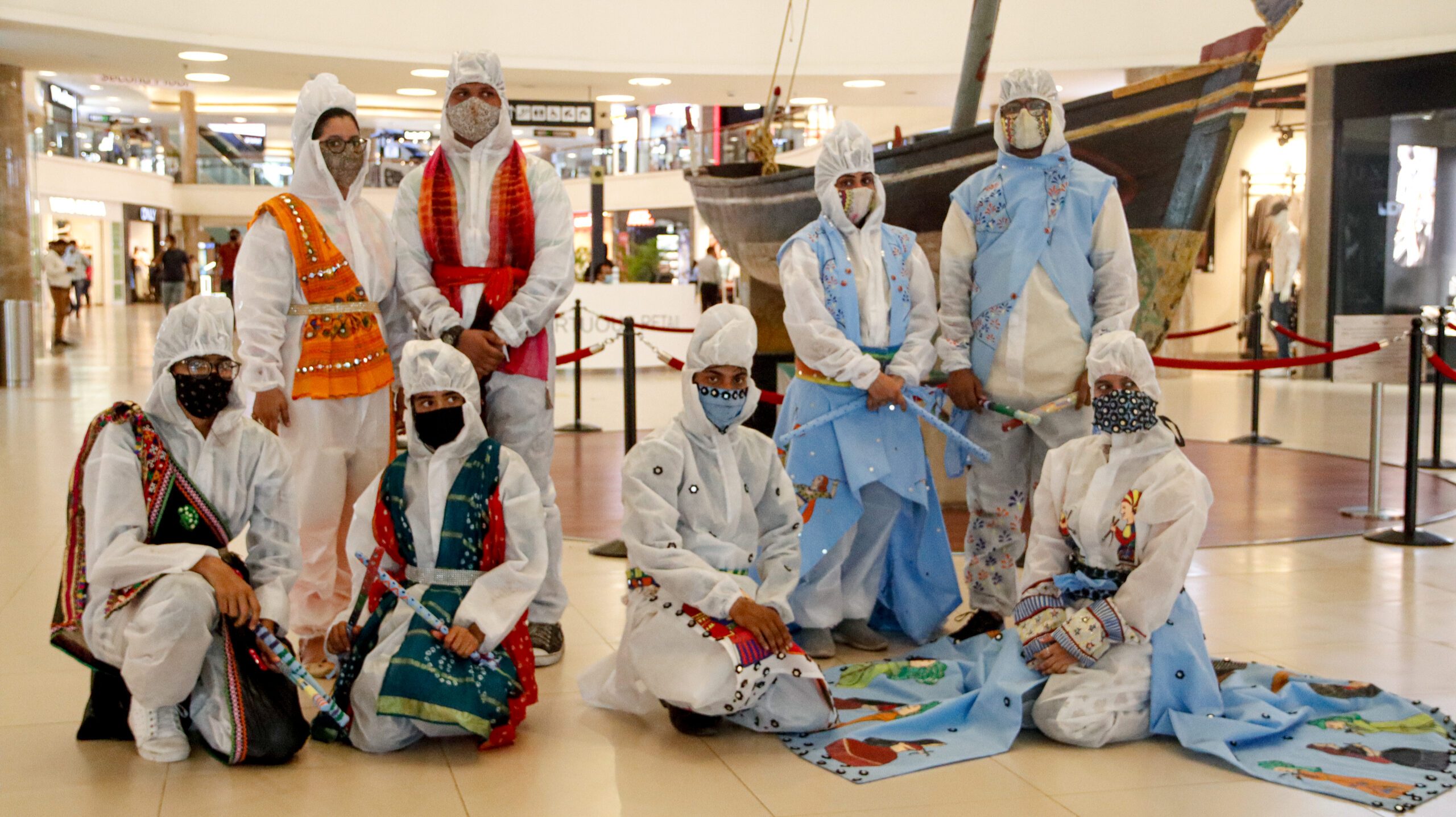 Design Students Transform PPE Kits for Hindu Festival