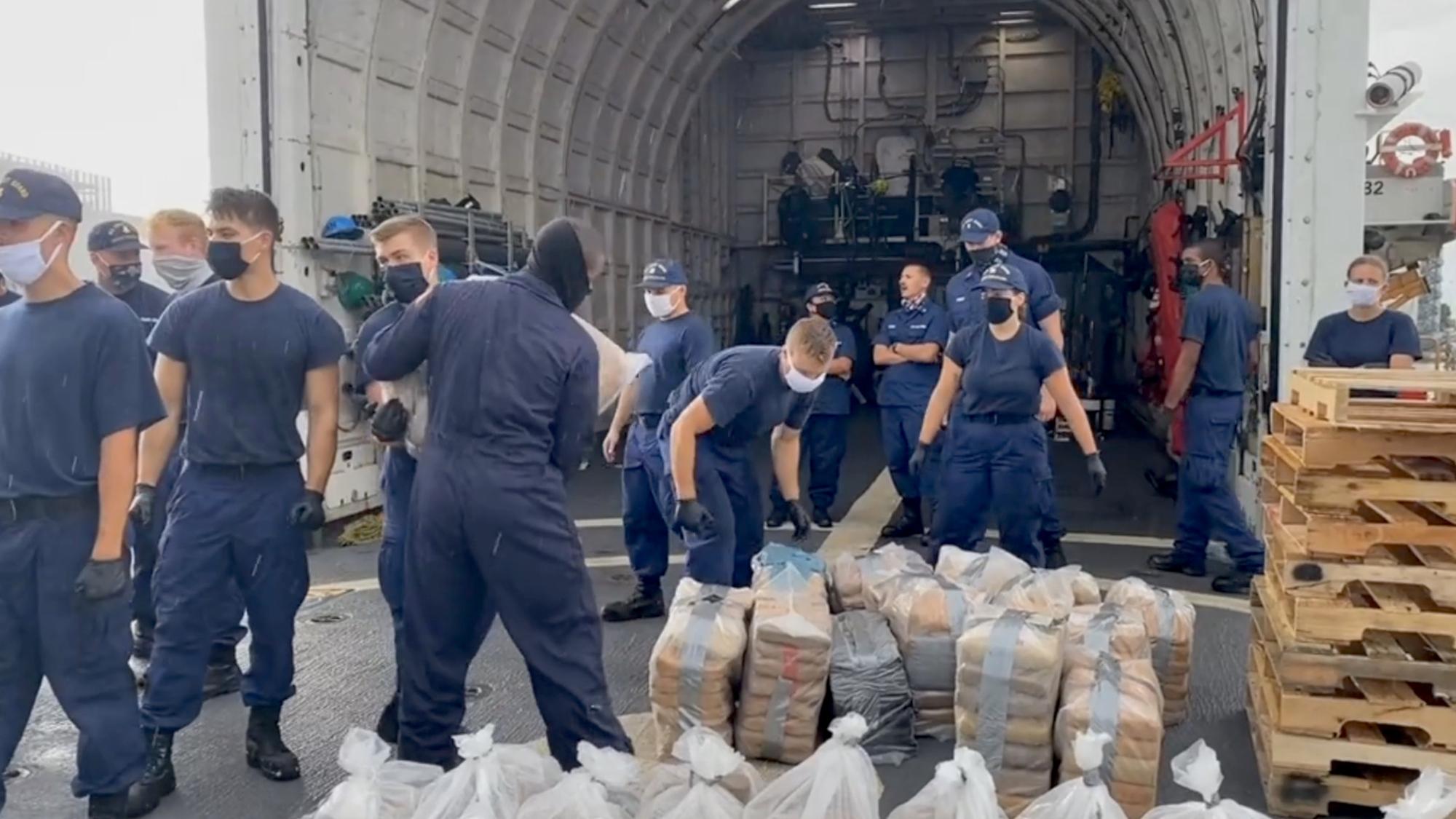 Coast Guard Seizes 11,000 Pounds of Drugs Off Coast Of Florida