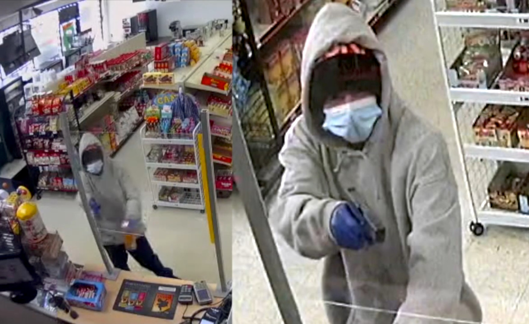 Bullets Fly During Convenience Store Robbery