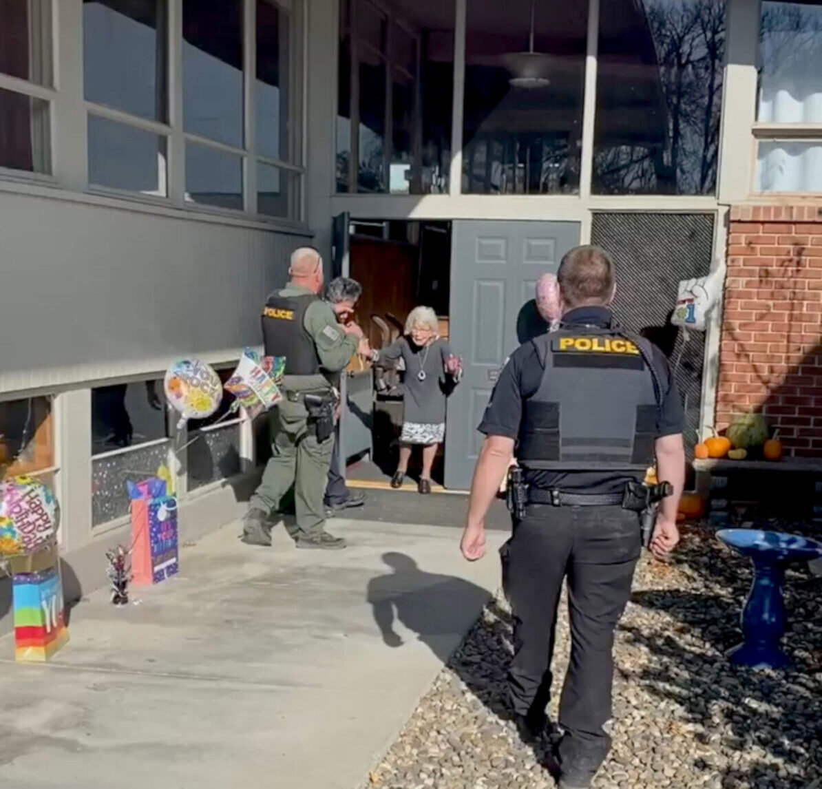 Birthday Raid: Police Surprise 90-Year-Old on Big Day