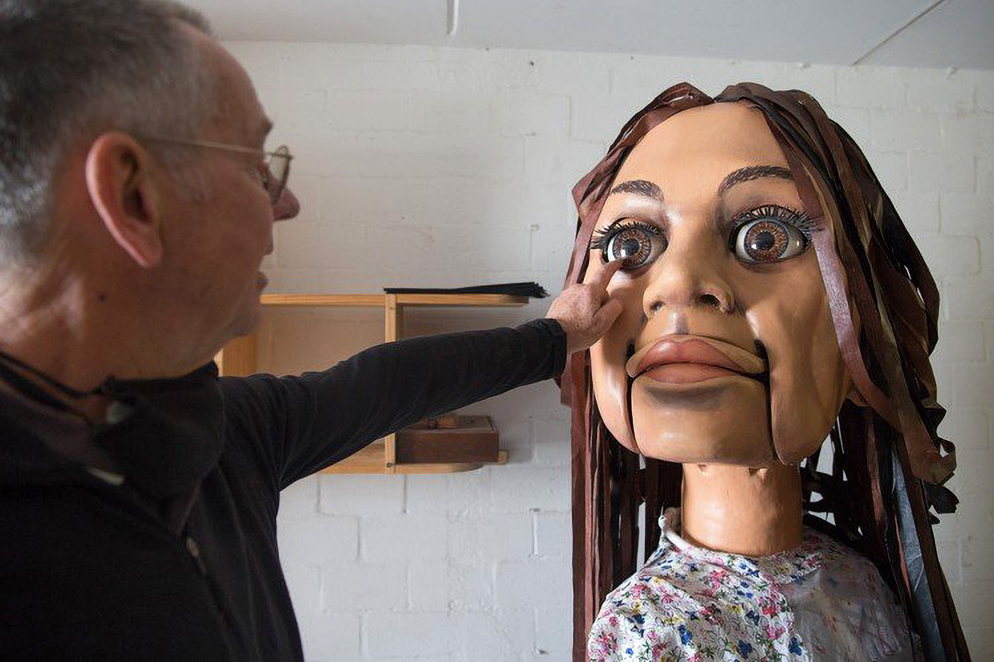Giant 'Amal' Puppet Highlights Child Refugee Crisis
