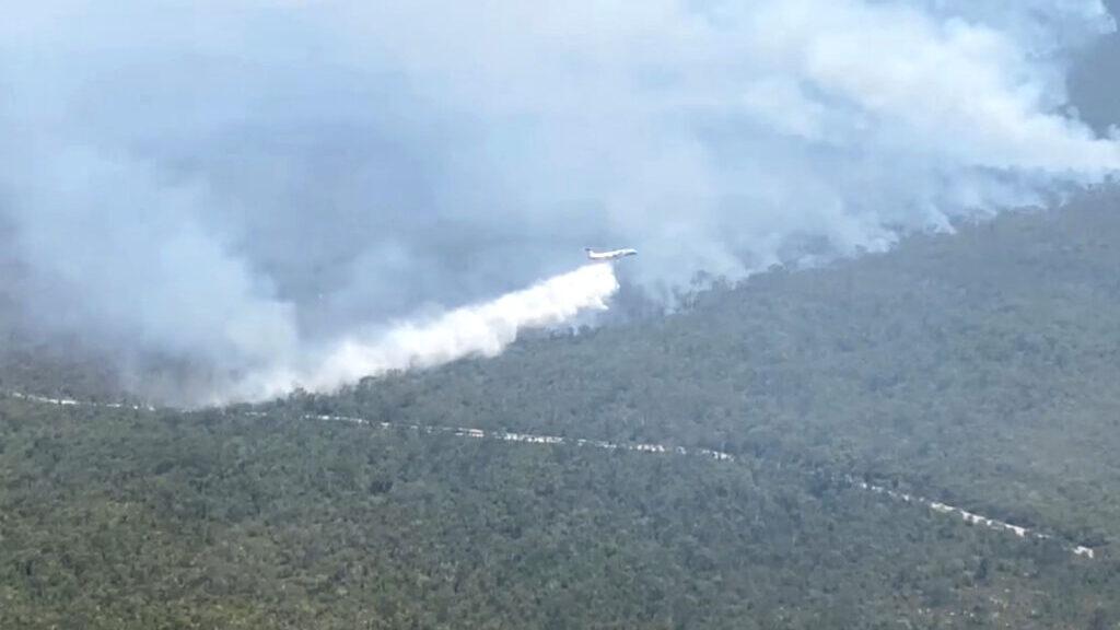 Latest Bushfire Burning on Australia's Famed Fraser Island