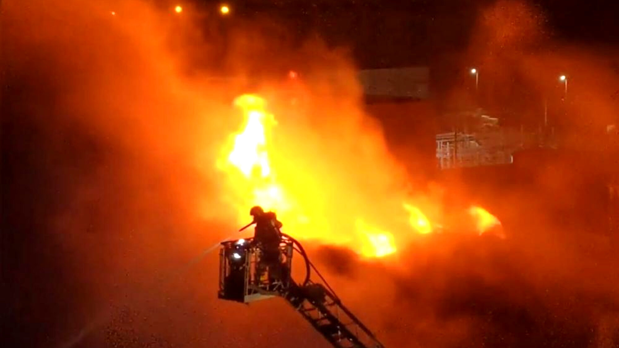 Irish Industrial Complex Goes Up in Flames