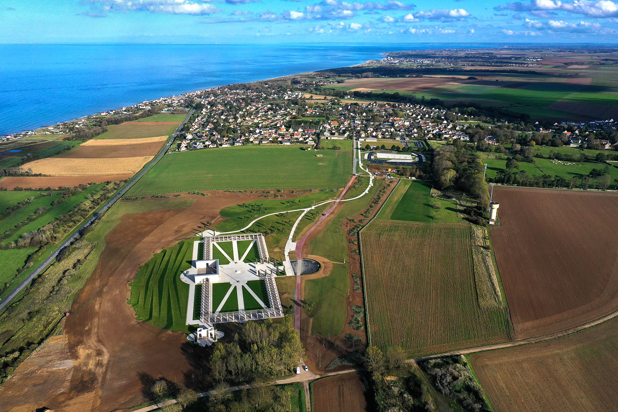 Drone Nabs Striking Pics Of Union Jack-Shaped D-Day Memorial