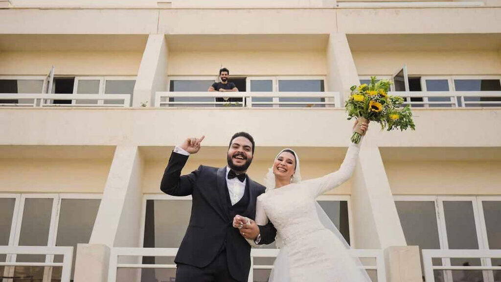 Soccer Star Greets Wedding Couple From Afar While Quarantined