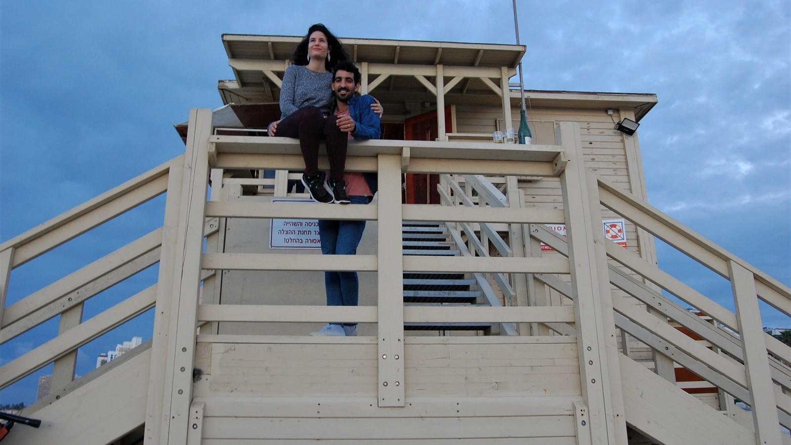 Tel Aviv Lifeguard Stations Become Romantic Hotspots