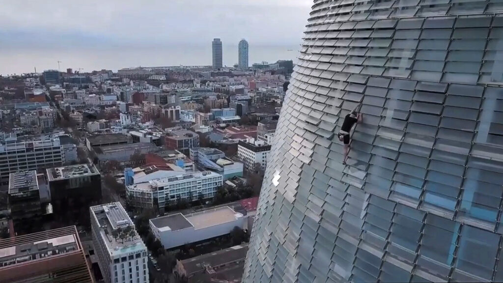 Rising High: British Free Climber Scales 38-Story Skyscraper in Barcelona