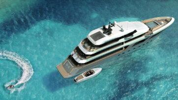 Majesty 175, world's largest composite production yacht. (Gulf Craft/Newsflash)