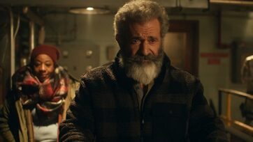 Mel Gibson and Marianne Jean-Baptiste is Mr. & Mrs. Claus in Fatman (2020)