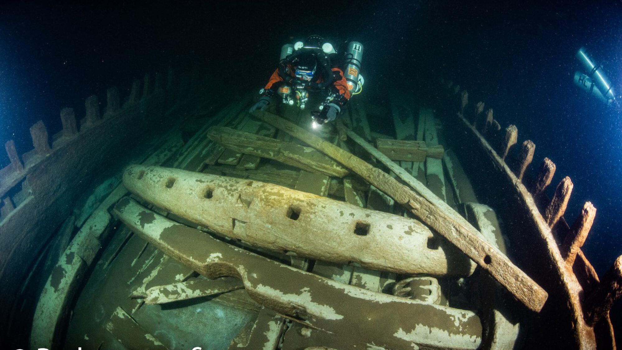 VIDEO: Hidden Depths: Divers Discover 17th-Century Wooden Merchant Vessel
