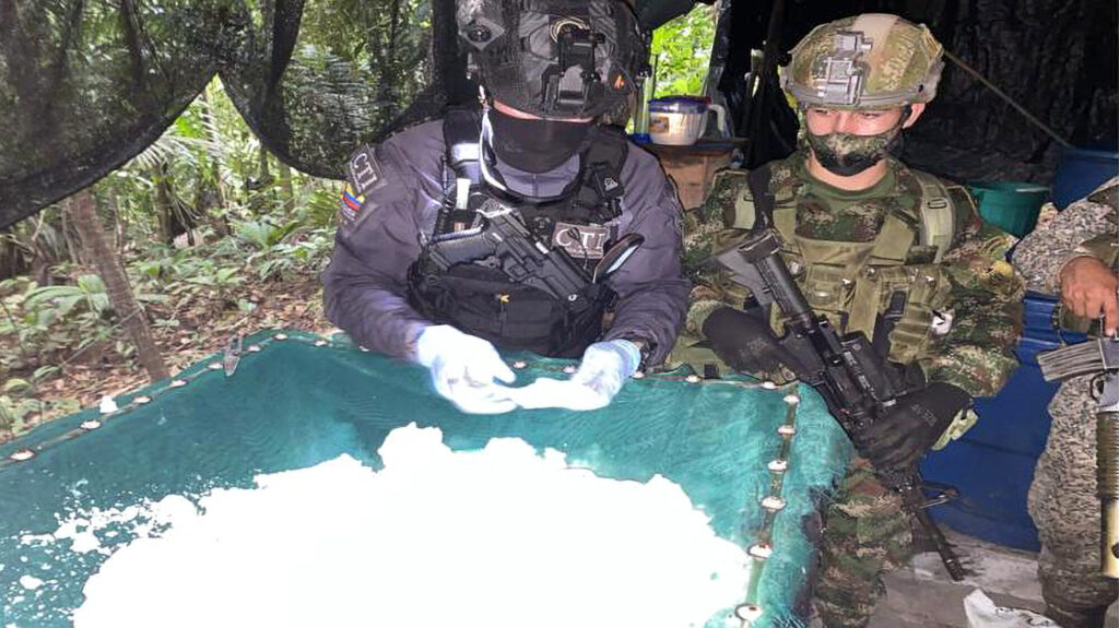 Colombian Military Destroys Jungle Drug Lab Housing 2 Tons Of Cocaine