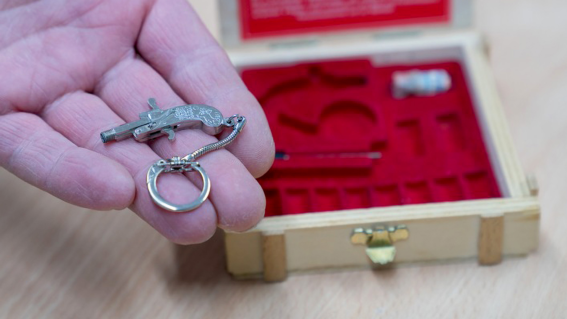 Small Arms: Police Seize Tiny Keyring Gun From Plane Passenger