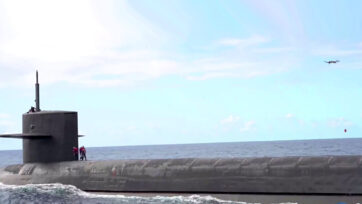 Drone Delivers Payload to USS Henry M. Jackson. (DVIDS . Clipzilla)