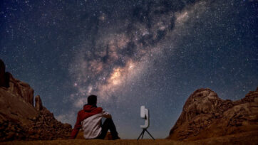 The creator of the telescope wanted to make it easier for people to view the night sky. (Vaonis/Real Press)