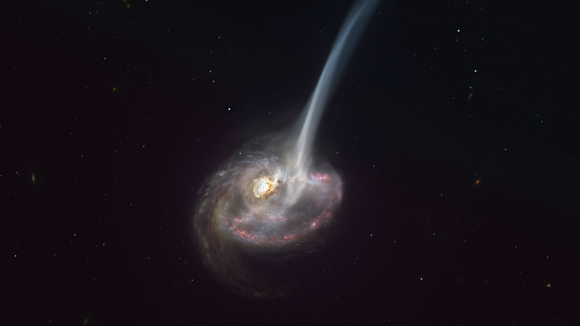 World's First:Astronomers Observe Huge Gas Spurt In Galaxy Far Away