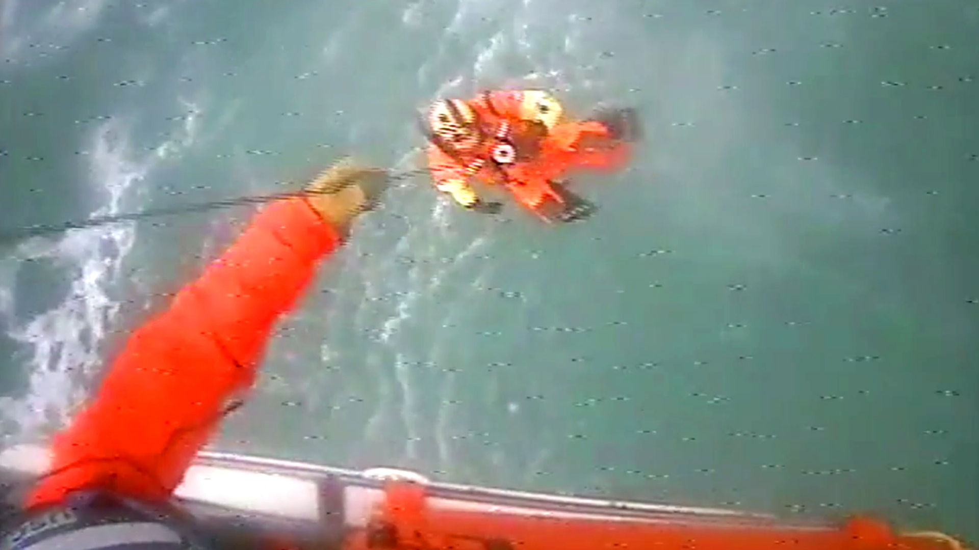 VIDEO: Fishermen Plucked From Stranded Boat By Coast Guards