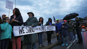 CT Residents Hold Vigil Mourning US Withdrawal From Paris Climate Accord