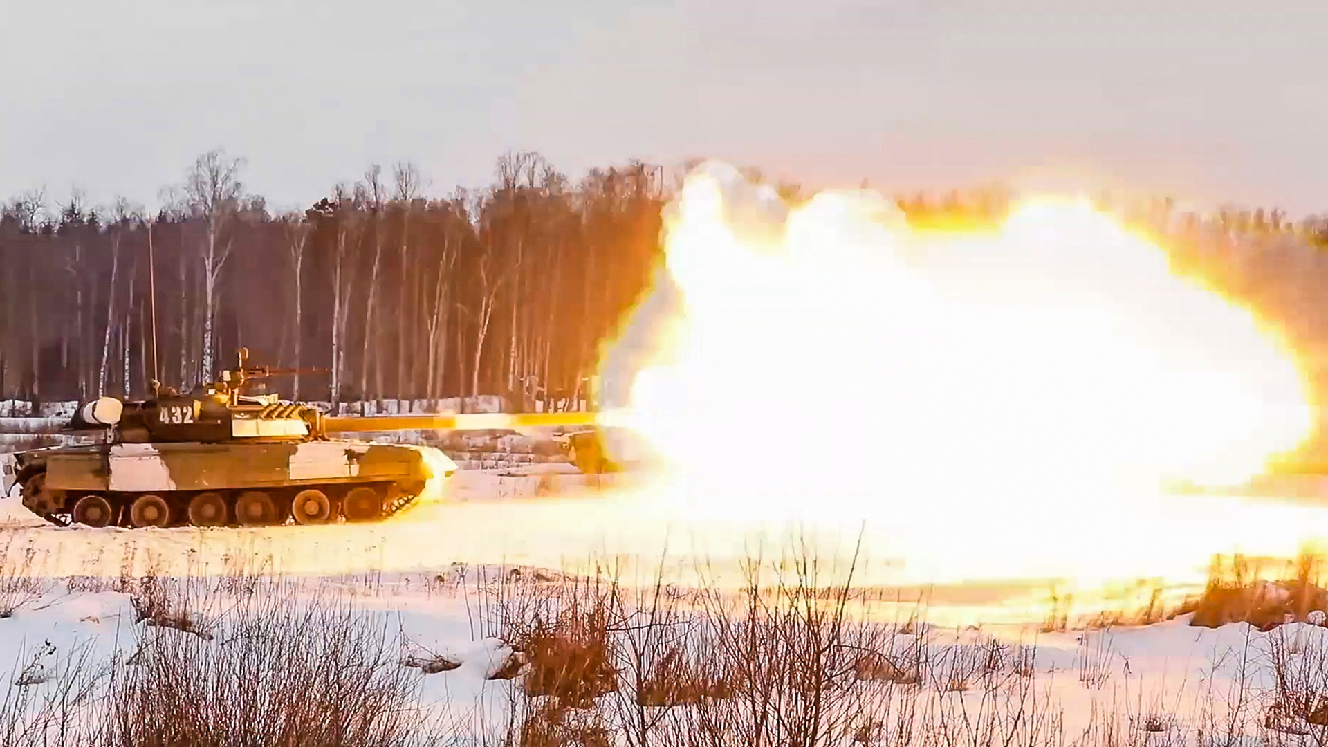 VIDEO: Russian Tanks Show Their Blistering Firepower