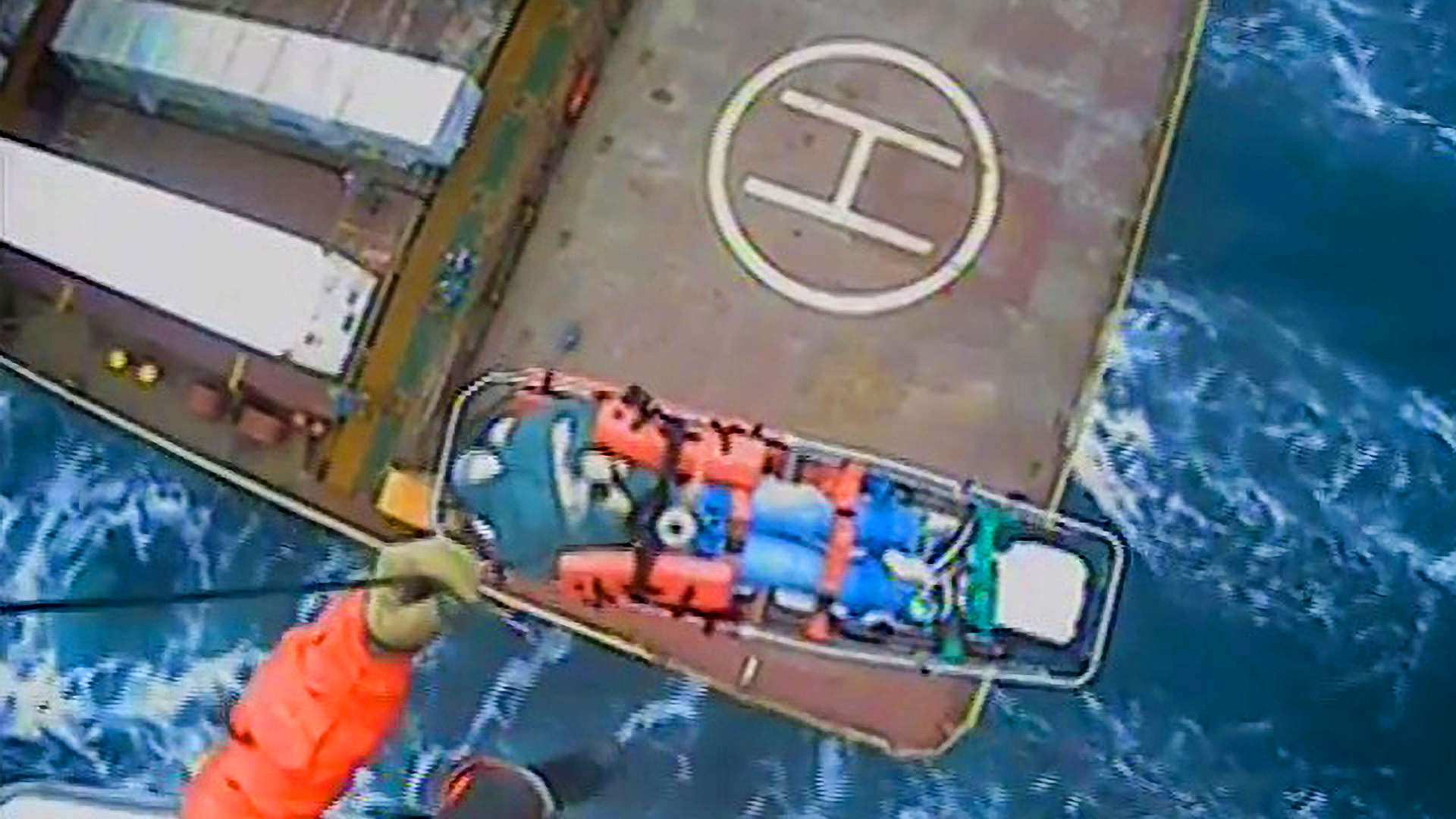65-year-old woman rescued by US Coast Guard from a container near US-Canada border