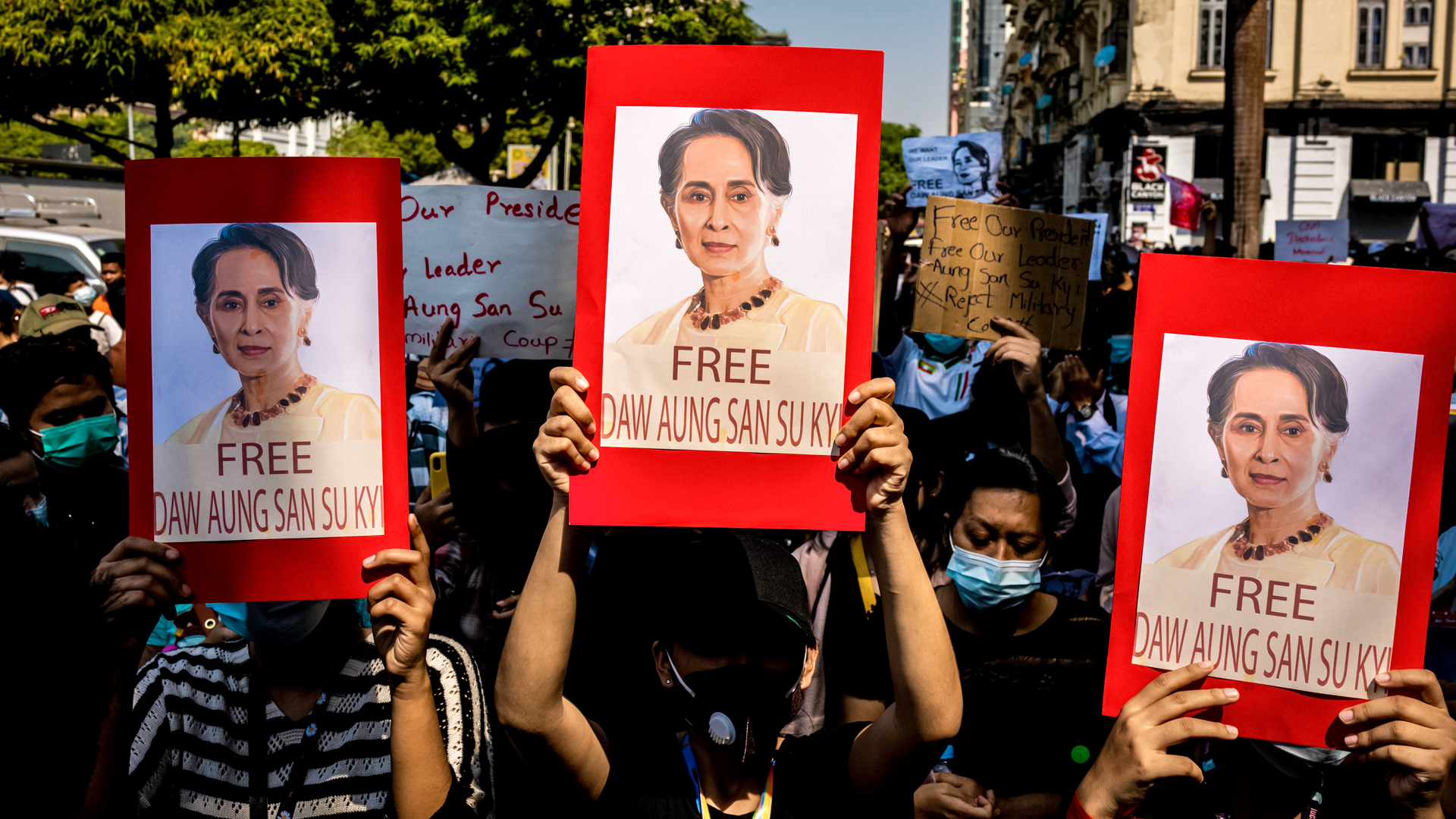 Internet Restored As Myanmar Coup Protests Continue