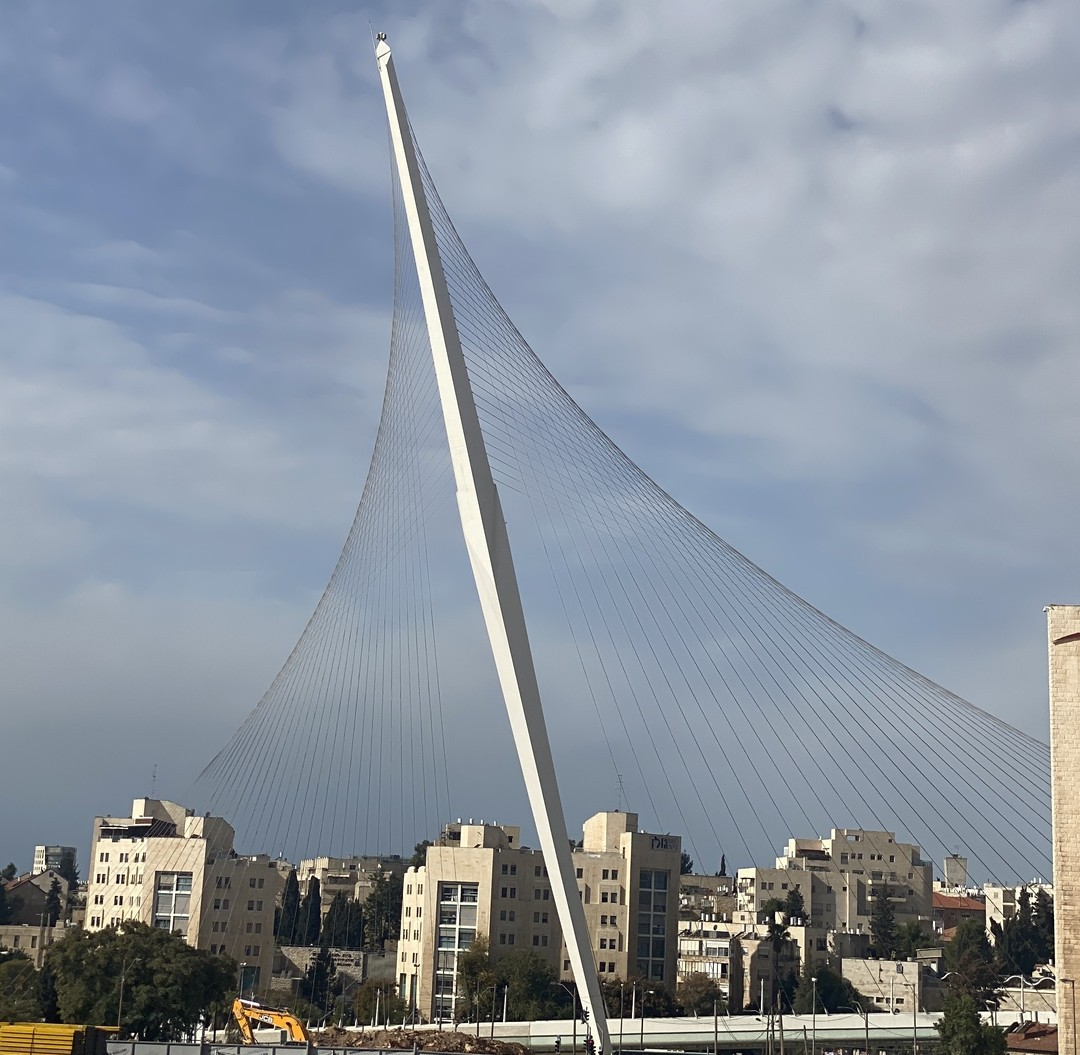 The String (Chords) Bridge in Jerusalem. Photo by Danya Belkin