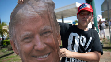 Pro Trump Rally Held Near Trump's Mar-a-Lago Estate On Presidents' Day