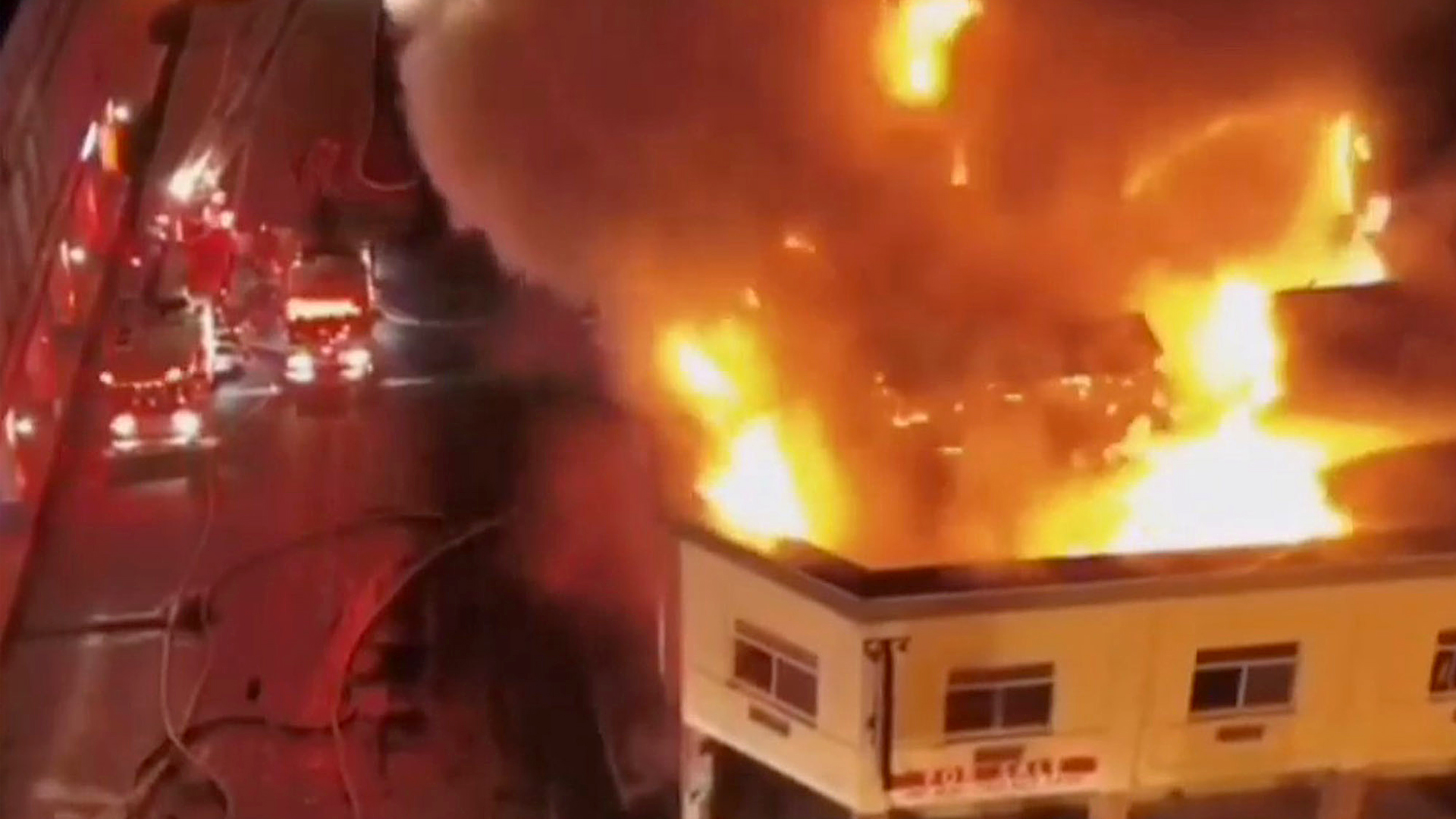 VIDEO: Massive Fire Guts Historic Mayan Hotel In El Centro