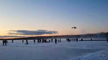 Helicopter ice