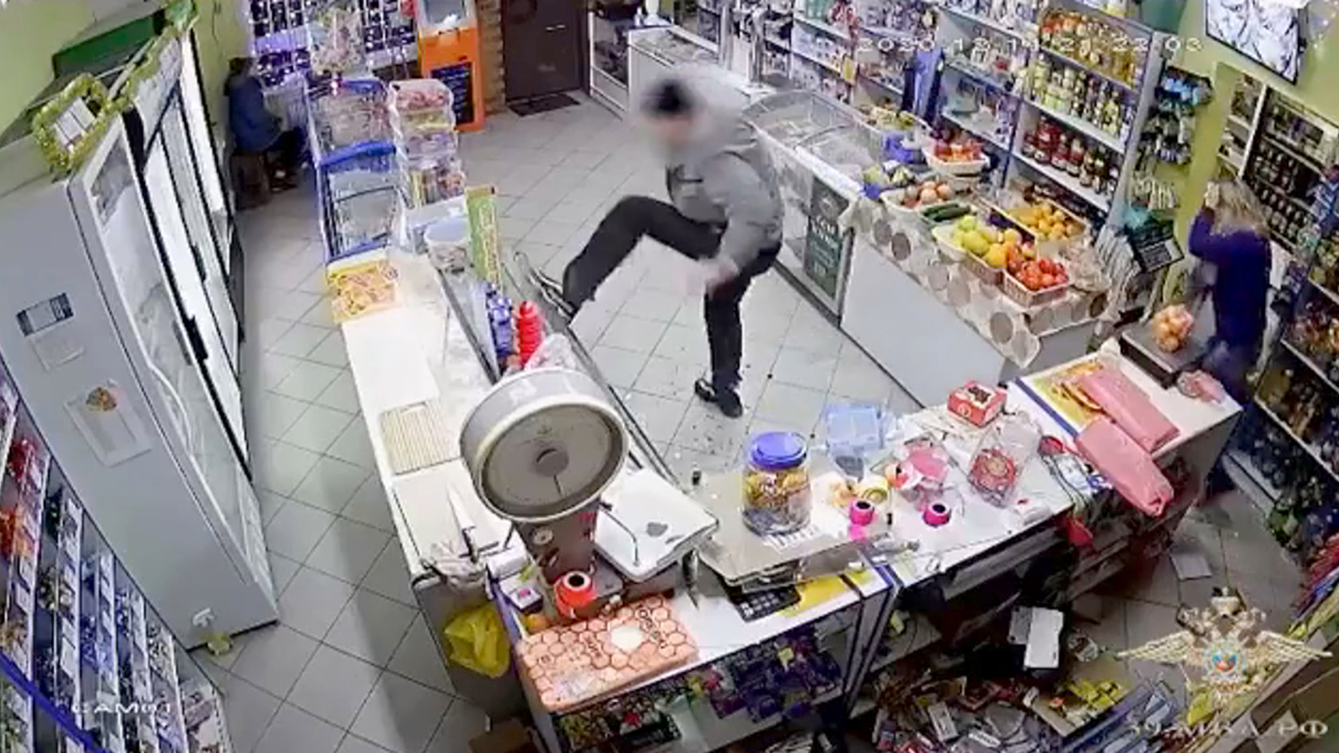 VIDEO: Boys In Booze: Cops Seize Drunk Who Smashed Up Shop That Refused To Sell Him Alcohol