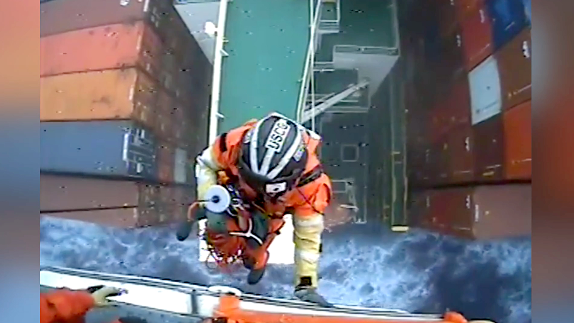 VIDEO: Tanks Guys: Coast Guard Copter Winches Injured Crewman From Container Tanker