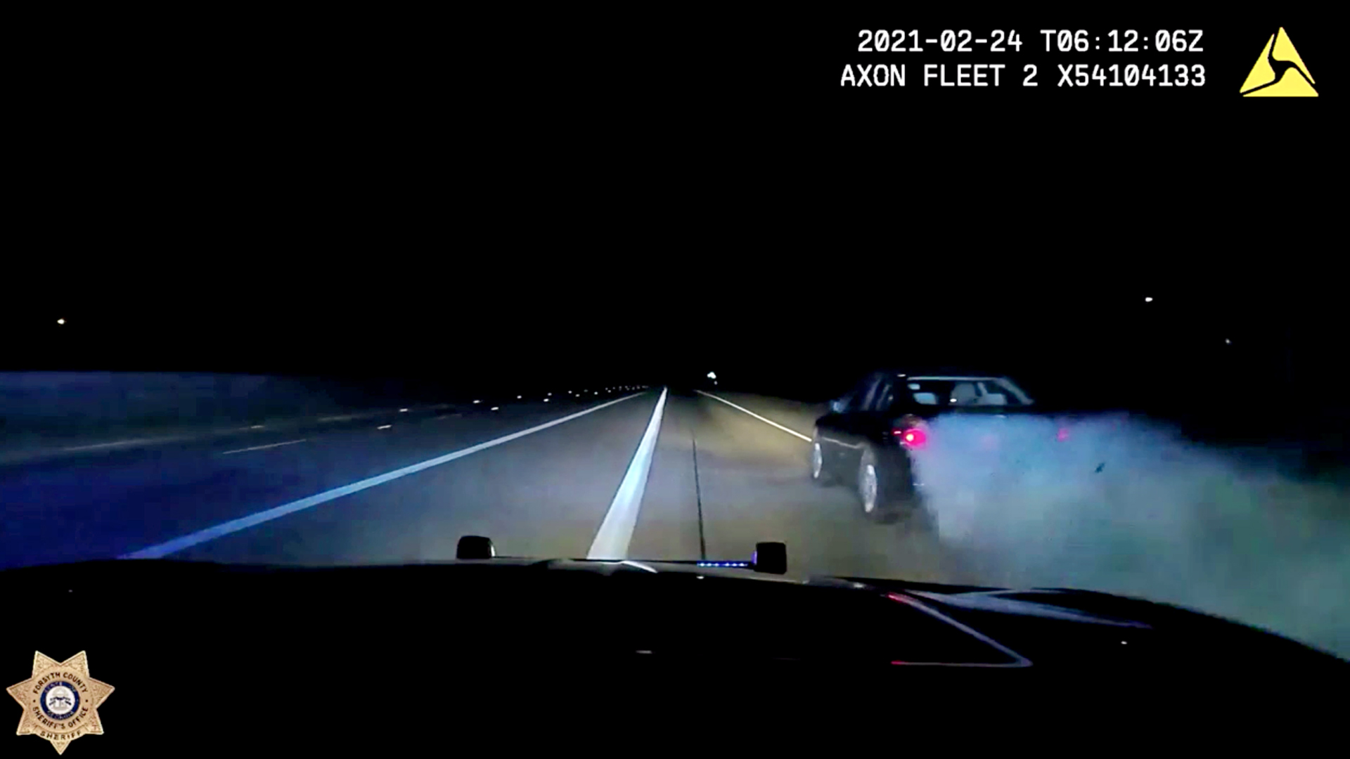 VIDEO: Fleeing Driver Rammed Off The Road