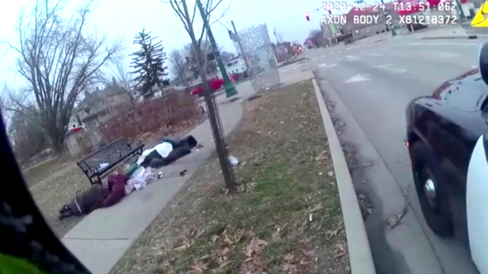 VIDEO: Homeless Man Sleeping On Sidewalk Found Dead Hours After Officer Checks Up On Him