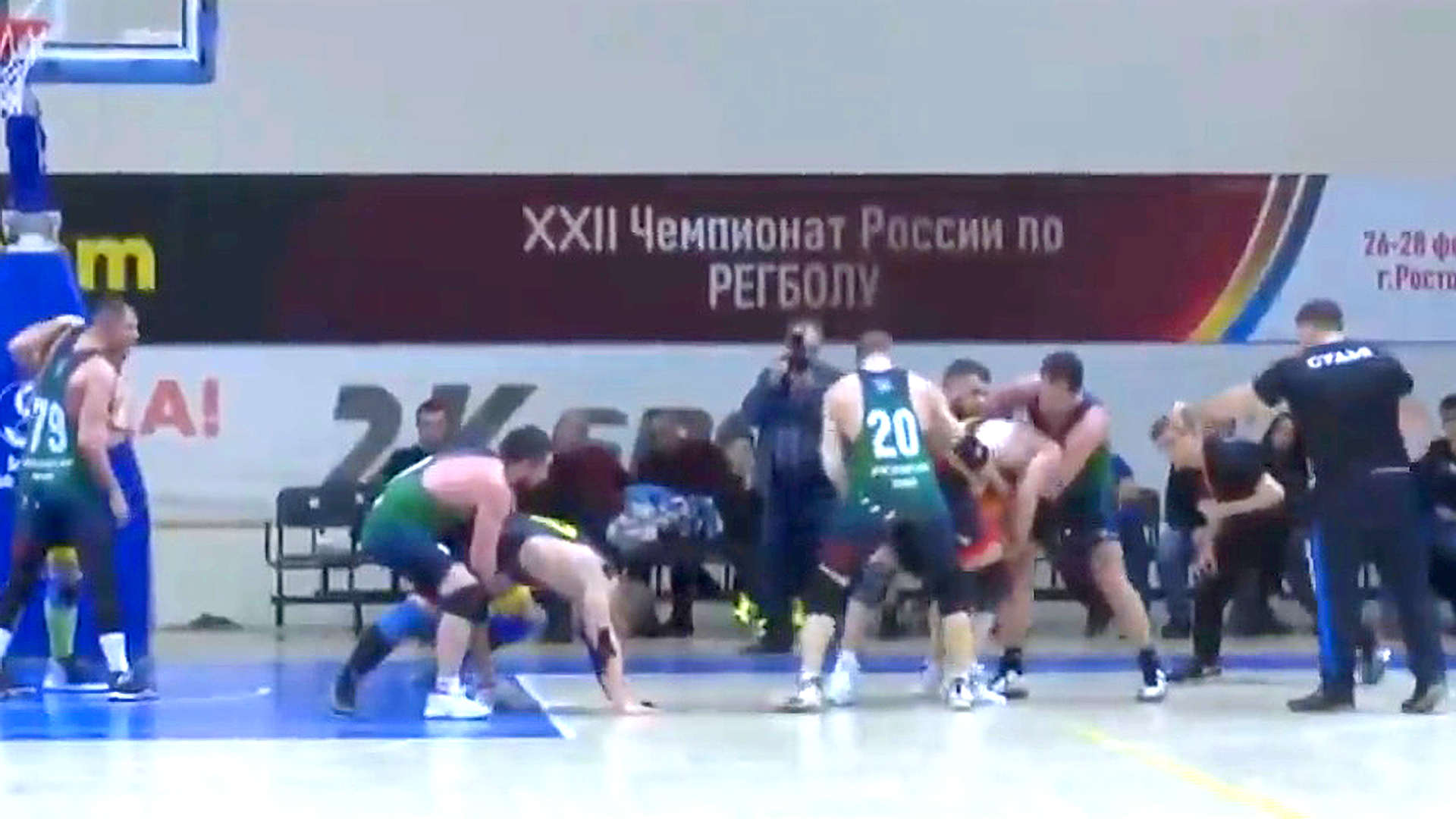 VIDEO: Burly Russian Men Play Sport With Mix Of Wrestling, Basketball And Rugby Called Regball