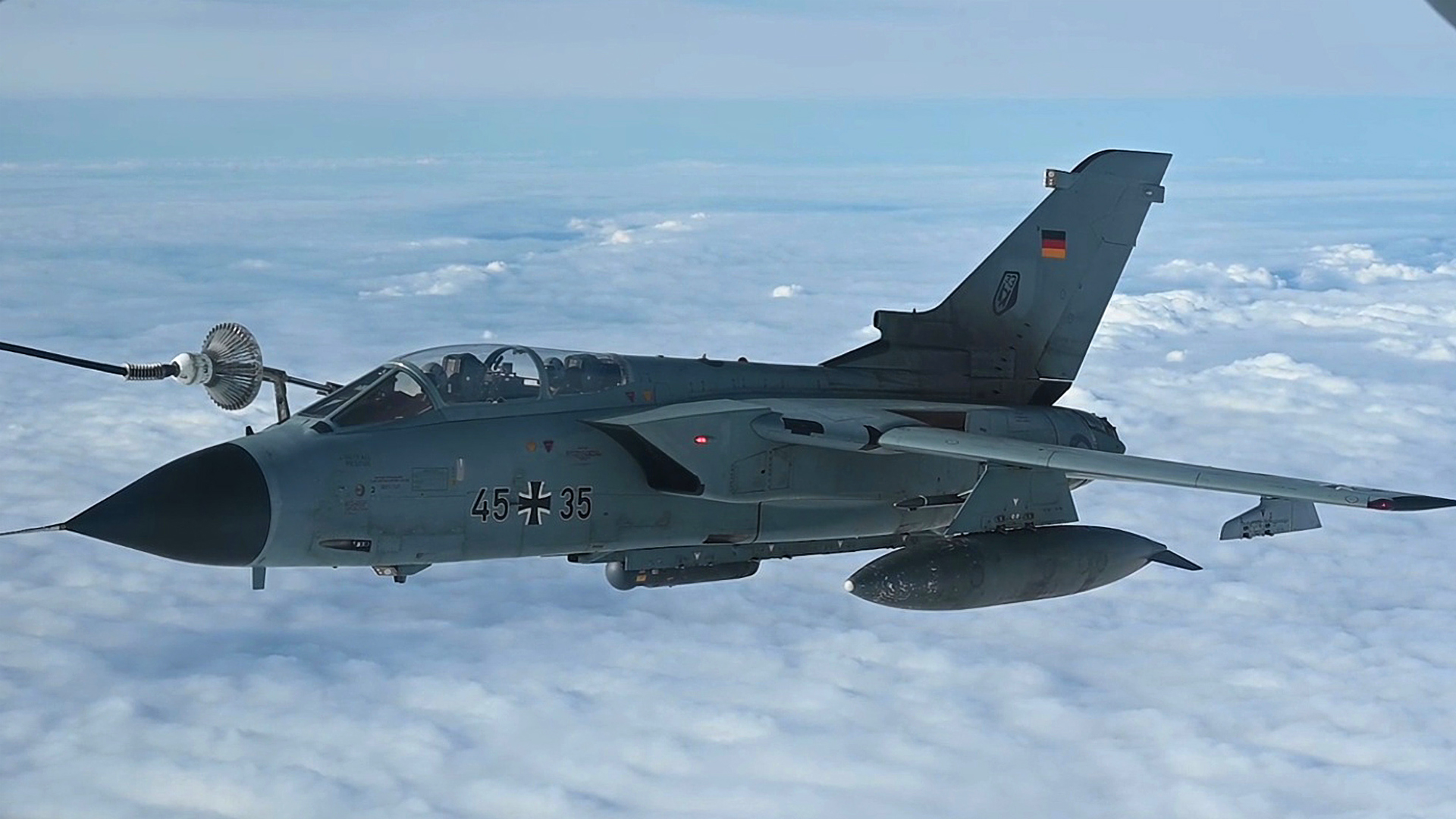 VIDEO: US Air Force Stratotanker Refuels German Fighter Jets Mid-Air During Baltic Trident Exercise