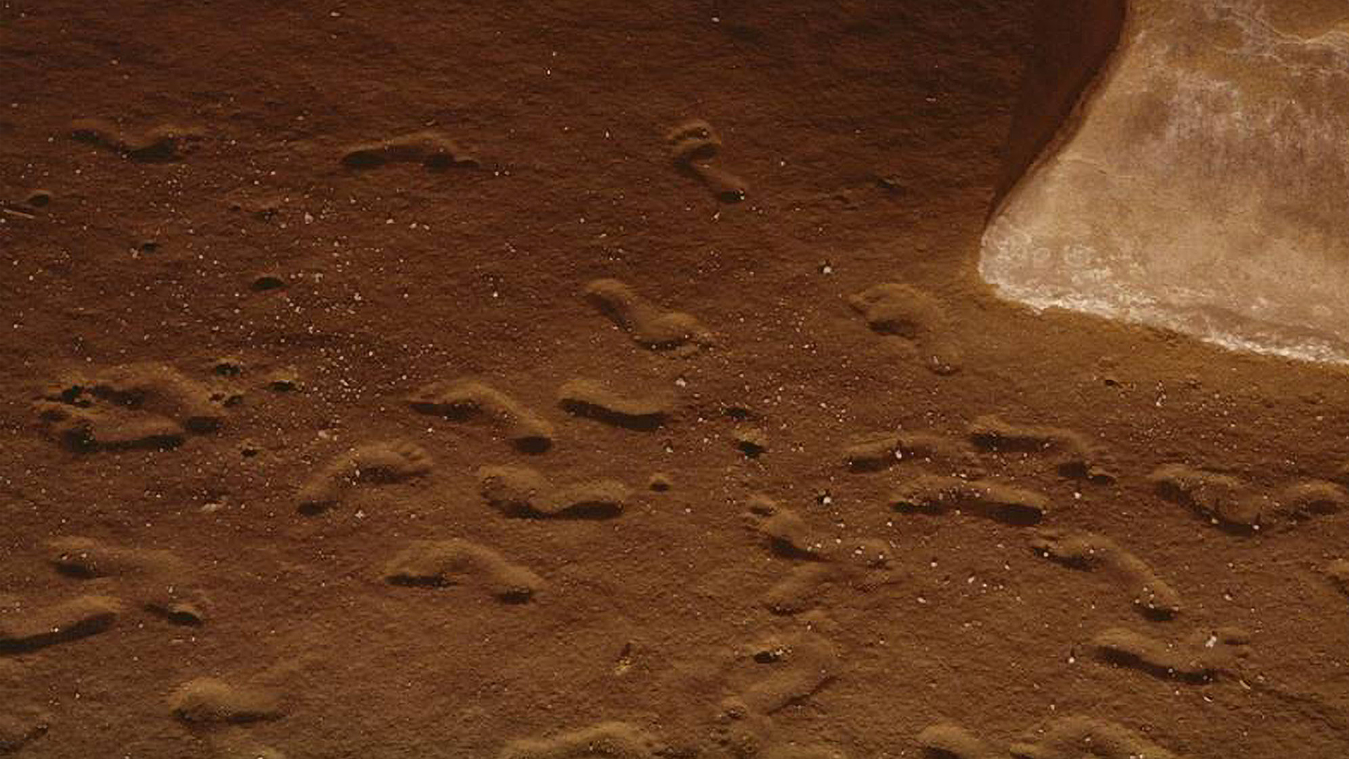 Rock And Stroll Show: Prehistoric Mystery Footprints Found In Ancient Cave Show Visitors Were Strapping 200lb Teens