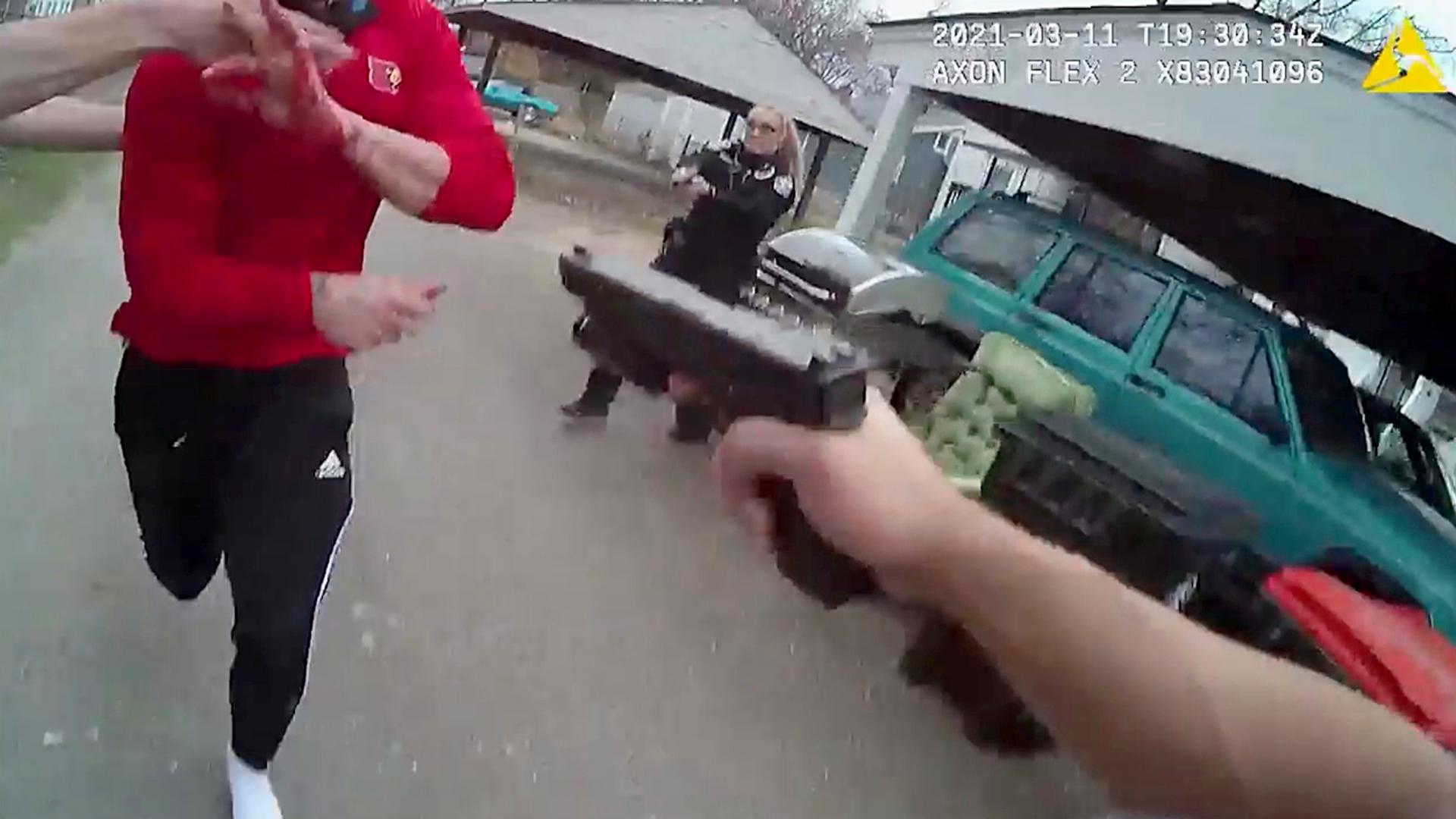 US Cops Shoot Knifeman Attempting To Stab Floored Cop