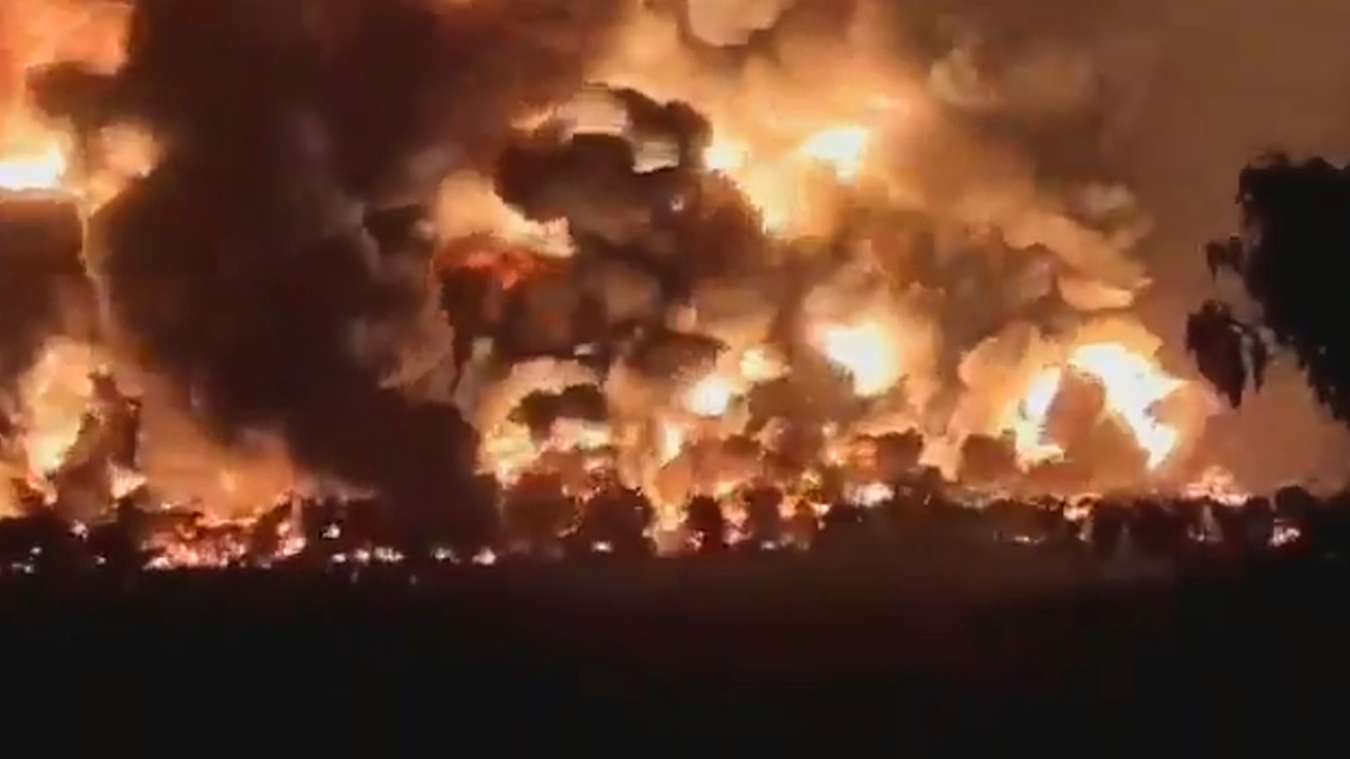 VIDEO: Three Missing In Oil Inferno Horror