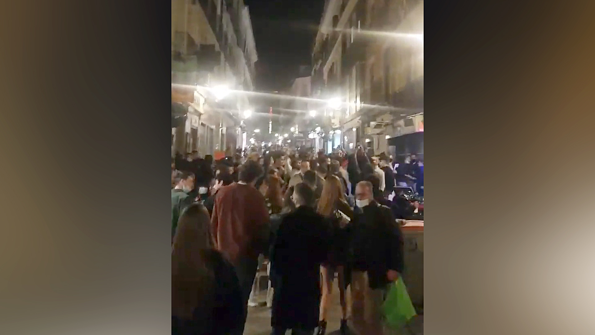 VIDEO: Hordes Of Partygoers Gather On Madrid Streets And Ignore COVID Restrictions