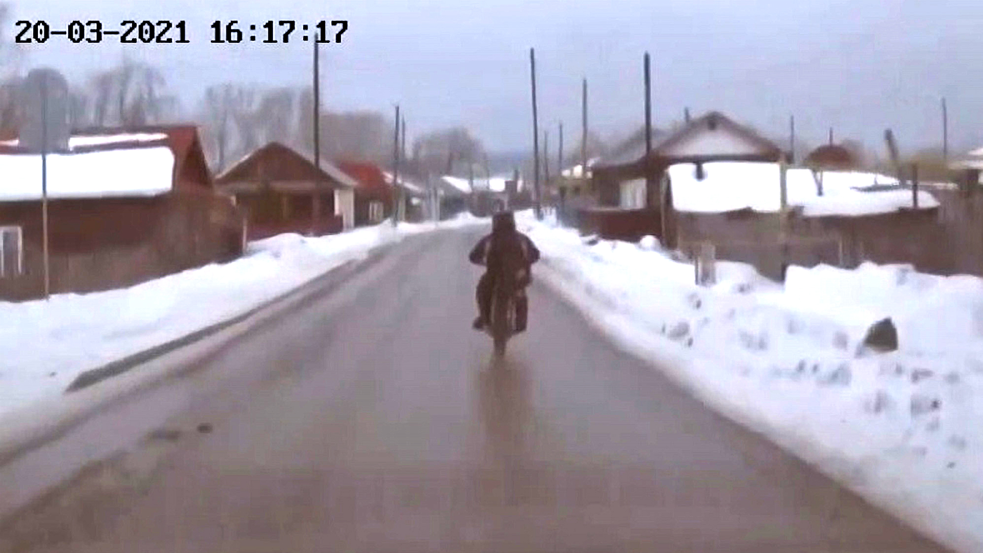 VIDEO: Freezy Rider: Teen Biker Seized After Police Chase Crash In Heavy Snow